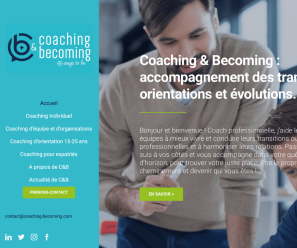 Création site internet Coaching and Becoming Normandie